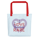 tote bag I Love Someone with a Rare Condition medical disability disabilities awareness inclusion inclusivity diversity genetic disorder