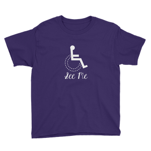 youth Shirt see me not my disability wheelchair inclusion inclusivity acceptance special needs awareness diversity