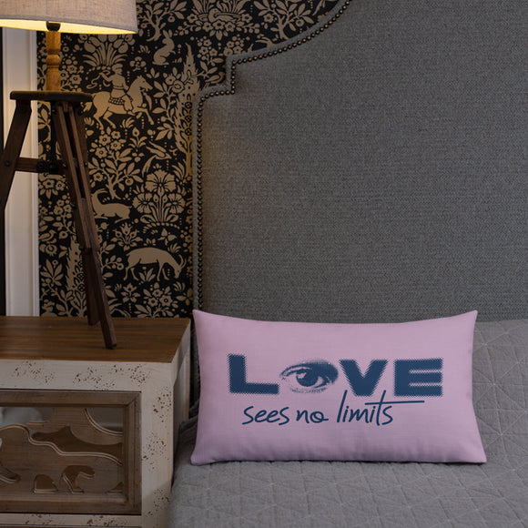 pillow love sees no limits halftone eye luv heart disability special needs expectations future