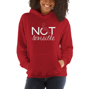 hoodie not invisible disabled disability special needs visible awareness diversity wheelchair inclusion inclusivity impaired acceptance