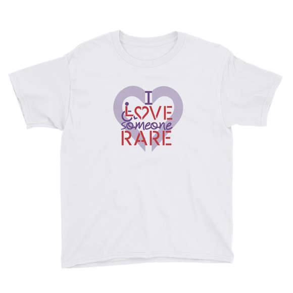 youth shirt I Love Someone with a Rare Condition medical disability disabilities awareness inclusion inclusivity diversity genetic disorder