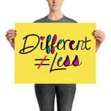 Different Does Not Equal Less (As Seen on Netflix's Raising Dion) Poster