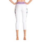 Different Does Not Equal Less (As Seen on Netflix's Raising Dion) White Yoga Capri Leggings