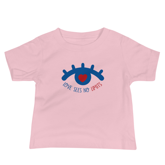 baby Shirt love sees no limits luv heart eye disability special needs expectations future