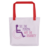 See the Person, Not the Disability (Women's Tote Bag)