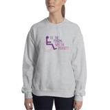 See the Person, Not the Disability (Women's Design, Light Color Sweatshirts)