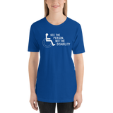 See the Person, Not the Disability (Unisex Dark Color Shirts)