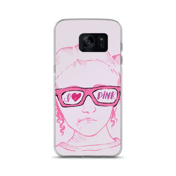 samsung phone case I love Pink pink glasses love luv heart Raising Dion Esperanza fan Netflix Sammi Haney