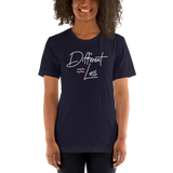 Different Does Not Equal Less (Original Clean Design) Adult Dark Color Shirts