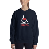 Different but Equal (Disability Equality Logo) Sweatshirt Black/Navy