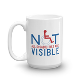 Not All Disabilities are Visible (Men's Design Mug)