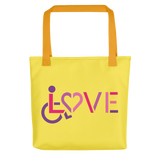 LOVE (for the Special Needs Community) Tote Bag