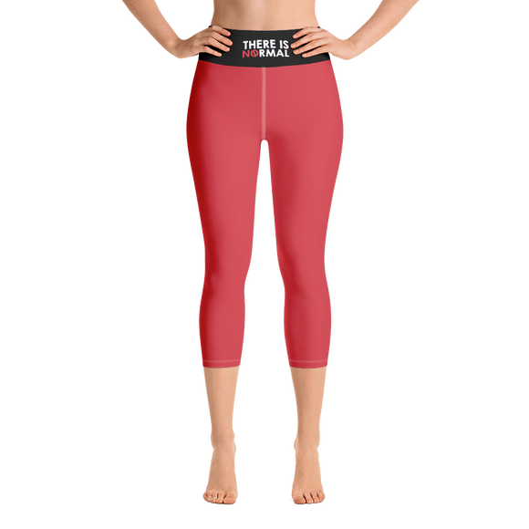 Yoga Capri Leggings there is no normal myth peer pressure popularity disability special needs awareness diversity inclusion inclusivity acceptance activism