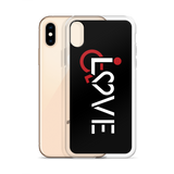 LOVE (for the Special Needs Community) Black iPhone Case