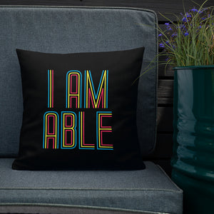 pillow I am Able abled ability abilities differently abled differently-abled able-bodied disabilities people disability disabled wheelchair