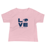 Love Sees No Limits (Halftone Stacked Design, Baby Shirt)