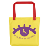 See the Person, Not the Disability (Eyelash Design) Yellow Tote Bag