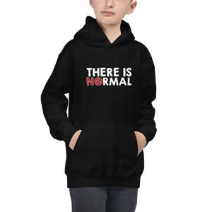 kid's hoodie there is no normal myth peer pressure popularity disability special needs awareness diversity inclusion inclusivity acceptance activism