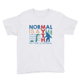 youth shirt normal is a myth big foot loch ness lochness yeti sasquatch disability special needs awareness inclusivity acceptance activism