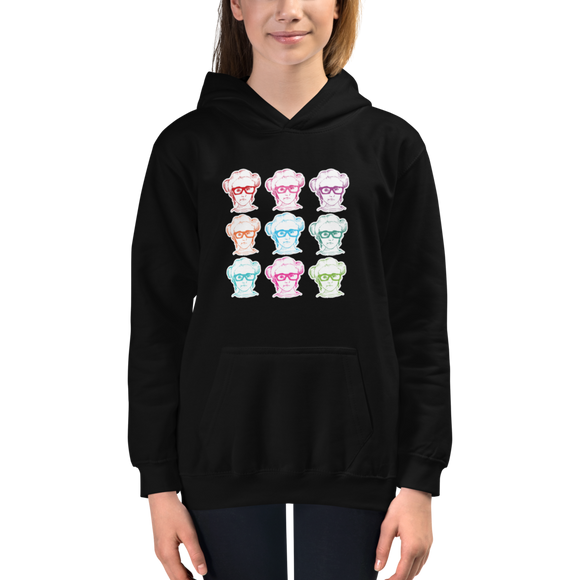 kid's hoodie 9 Different Colored Faces of Sammi Haney Esperanza Netflix Raising Dion fan sassy wheelchair pink glasses disability osteogenesis imperfecta OI