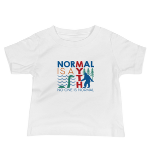 baby shirt normal is a myth big foot loch ness lochness yeti sasquatch disability special needs awareness inclusivity acceptance activism