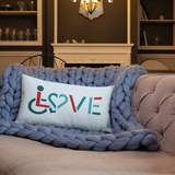 LOVE (for the Special Needs Community) Pillow 20x12 or 18x18