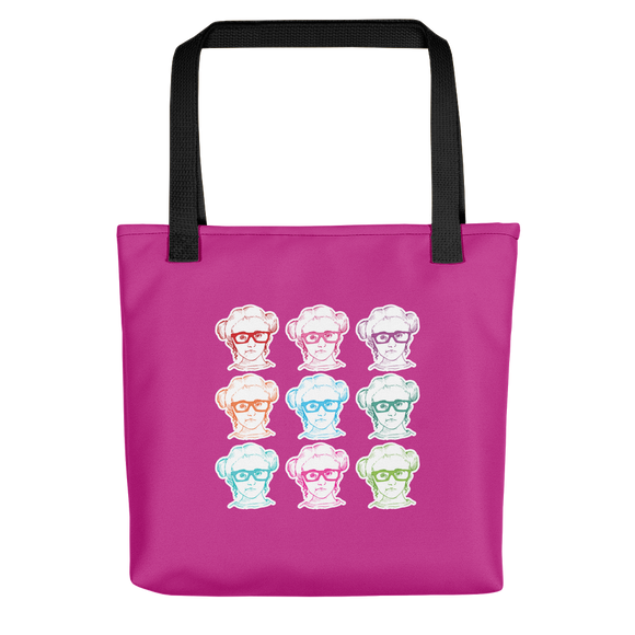 tote bag 9 Different Colored Faces of Sammi Haney Esperanza Netflix Raising Dion fan sassy wheelchair pink glasses disability osteogenesis imperfecta OI