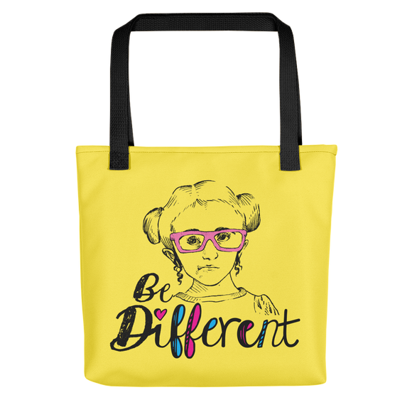 tote bag be different Raising Dion Esperanza fan Netflix Sammi Haney wheelchair pink glasses disability osteogenesis imperfecta