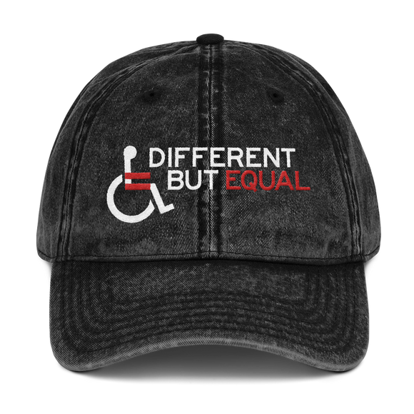hat cap shirt different but equal disability logo equal rights discrimination prejudice ableism special needs awareness diversity wheelchair inclusion acceptance