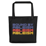 Bound by Ableism (Halftone Tote Bag)