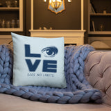 Love Sees No Limits (Halftone Stacked Design, Pillow)