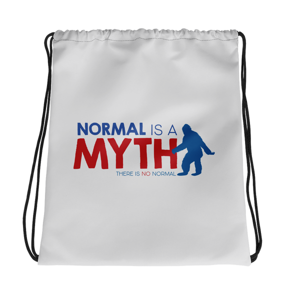 drawstring bag normal is a myth big foot yeti sasquatch peer pressure popularity disability special needs awareness inclusivity acceptance activism
