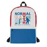 school backpack normal is a myth big foot loch ness lochness yeti sasquatch disability special needs awareness inclusivity acceptance activism