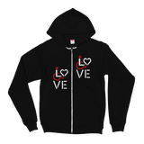 Zip-Up Hoodie Sweater showing love for the special needs community heart disability wheelchair diversity awareness acceptance disabilities inclusivity inclusion