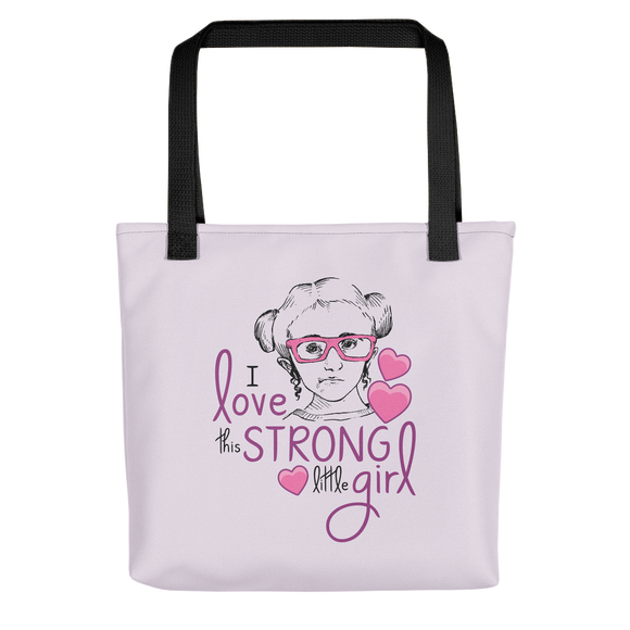 Tote Bag I love this strong little girl Sammi Haney Fan Esperanza Netflix Raising Dion strong little wheelchair pink glasses disability osteogenesis imperfecta