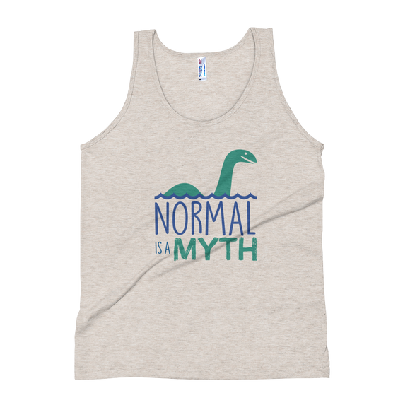 tank top normal is a myth loch ness monster lochness peer pressure popularity disability special needs awareness inclusivity acceptance activism