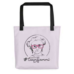 tote bag #teamsammi, #sammihaney Raising Dion Esperanza Netflix Sammi Haney fan wheelchair pink glasses disability osteogenesis imperfecta OI