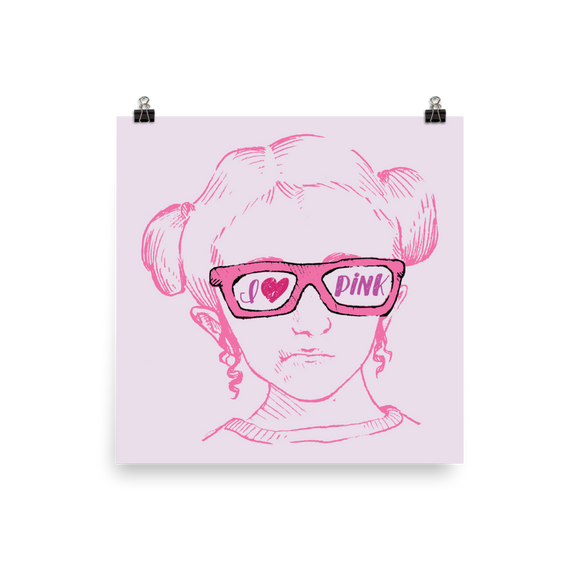 poster I love Pink pink glasses love luv heart Raising Dion Esperanza fan Netflix Sammi Haney