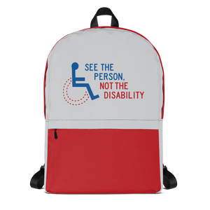 backpack school see the person not the disability wheelchair inclusion inclusivity acceptance special needs awareness diversity