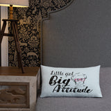 Little Girl Big Attitude (Esperanza - Raising Dion) Pillow