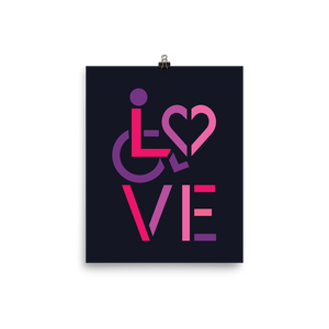 poster showing love for the special needs community heart disability wheelchair diversity awareness acceptance disabilities inclusivity inclusion