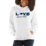 Love Sees No Limits (Halftone Design, Unisex Hoodie)