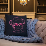 I Love Pink (Esperanza - Raising Dion) Pink on Navy Pillow