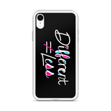 Different Does Not Equal Less (As Seen On Netflix's Raising Dion) Black iPhone Case