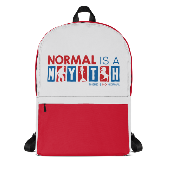 backpack school normal is a myth big foot mermaid unicorn peer pressure popularity disability special needs awareness inclusivity acceptance activism