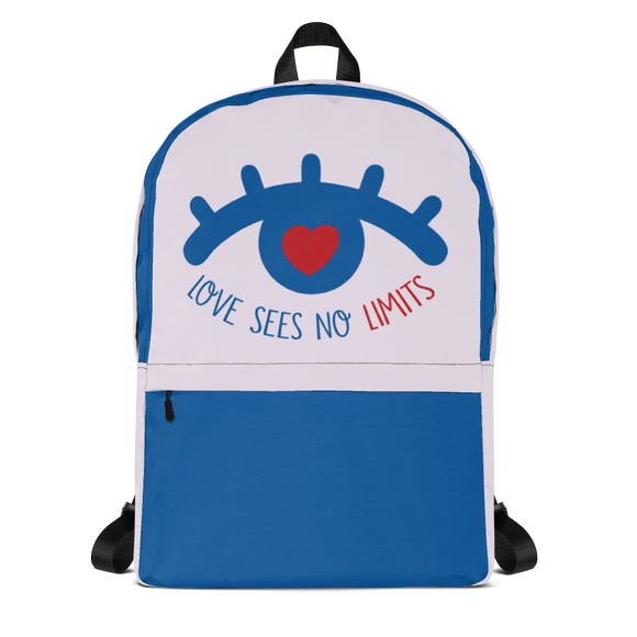 backpack school love sees no limits luv heart eye disability special needs expectations future