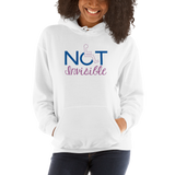 Not Invisible (Women's White Hoodie)