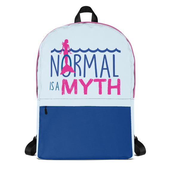 backpack school normal is a myth mermaid peer pressure popularity disability special needs awareness inclusivity acceptance
