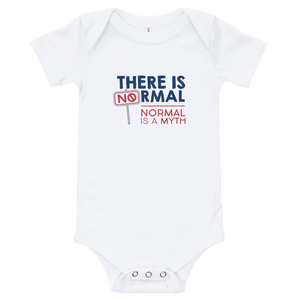 baby onesie babysuit bodysuit Shirt there is no normal myth peer pressure popularity disability special needs awareness diversity inclusion inclusivity acceptance activism