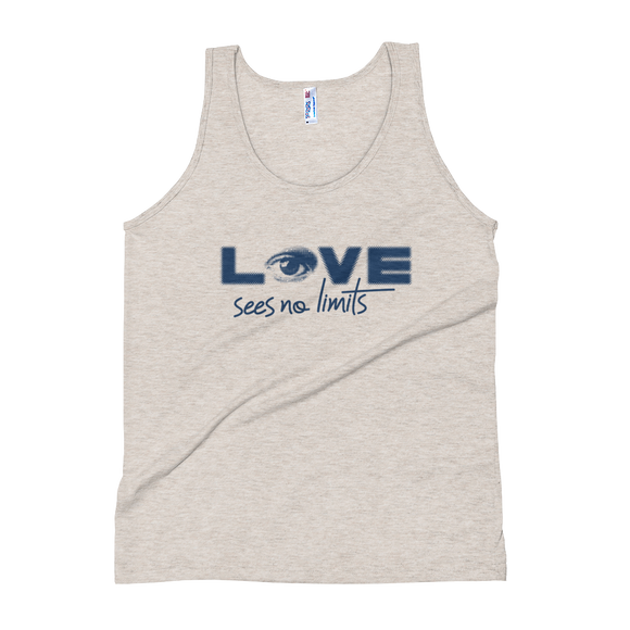 tank top love sees no limits luv heart eye disability special needs expectations future